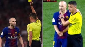 Andres Iniesta Proved What A Class Act He Is After Getting Booked