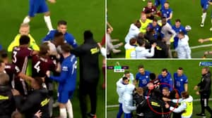 Chelsea Players Absolutely Lost It After Spotting Daniel Amartey In Ugly Touchline Brawl