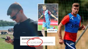Alexander Sorloth Pleads With Trabzonspor Fans To Stop Sending Him Messages After 3.2 Million People Comment On His Post