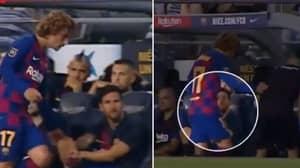Lionel Messi Appears To Snub Antoine Griezmann's Handshake