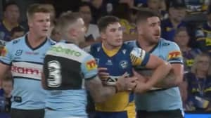 Heart-Warming Moment Cronulla Sharks Players Hold Up Concussed Mitch Moses To Stop Him Falling Over
