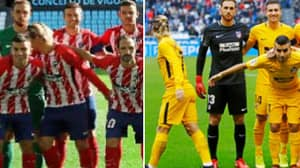 Why Griezmann Keeps Walking Away From Atletico Madrid's Team Photos