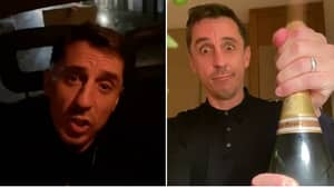 Gary Neville Savagely Taunted Liverpool After They Lost To Watford In The Premier League