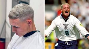Phil Foden Has Bleached His Hair And Fans Are Convinced He's The 'New Paul Gascoigne'