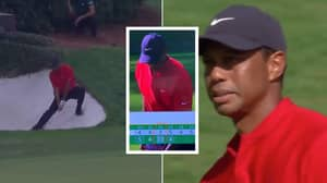Tiger Woods Takes 10 Shots On The Par 3 12th At The Masters