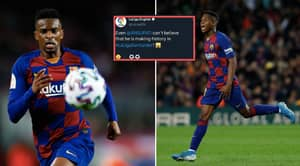 La Liga Twitter Shockingly Mistakes Nelson Semedo For Ansu Fati In Now-Deleted Tweet