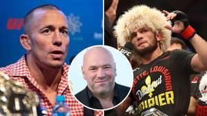 Dana White Backs Dream Clash Between Khabib Nurmagomedov And Georges St-Pierre