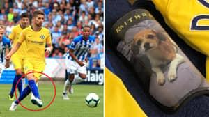 Jorginho Brilliantly Has His Dogs On His Shinpads