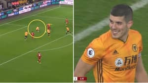 Fans Accuse Conor Coady Of Slipping On Purpose To Allow Roberto Firmino To Score
