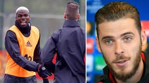 David De Gea's New Hairstyle Is Roasted In Manchester United Training Session