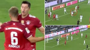 Robert Lewandowski Shows Off His Unreal Technique To Score Spectacular Volley For Bayern Munich