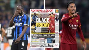 Italian Newspaper Shockingly Dub Inter Milan Vs Roma As 'Black Friday' In Racism Storm