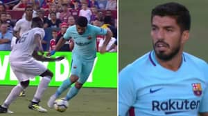 WATCH: Luis Suarez's Diving Antics During Friendly Against Manchester United Are Ridiculous