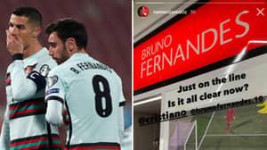 Nemanja Matic Trolls Manchester United Teammate Bruno Fernandes By Sticking Picture On His Locker