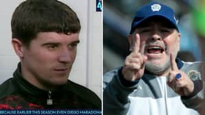 Young Roy Keane's Reaction After Hearing Diego Maradona Praised Him Is Priceless