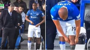 Djibril Sidibe Goes To Pull His Sock Up, Only To Realise His Sock Isn't On
