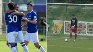Everton Just Won A Pre-Season Friendly 22-0, Four Players Score Hat-Tricks