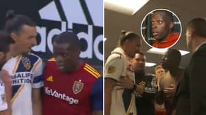 Zlatan Ibrahimovic Confronts Nedum Onuoha In Changing Room After On-Field Clash
