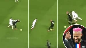 Neymar Brutally Responds To Montpellier Player's Foul By Instantly Dribbling Past Him