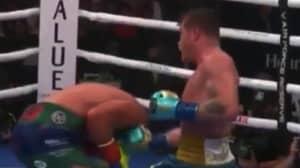 Slow Motion Footage Of Canelo Alvarez's Brutal Uppercut On Billy Joe Saunders