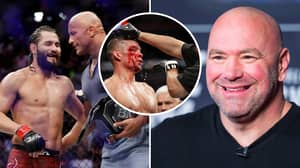 Dana White Reacts To Jorge Masvidal And Nate Diaz's Controversial Ending At UFC 244