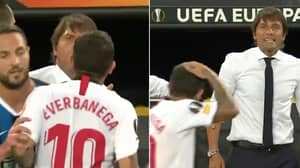 The Moment Antonio Conte Offered Out Ever Banega After He Said 'Let's See If This Wig Is Real'
