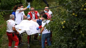 Huge Crash Leaves Cycling Champion With Nasty Laceration To Her Knee