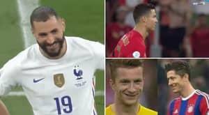 The Incredible Moment Cristiano Ronaldo And Karim Benzema Recreate Reus And Lewandowski's Iconic Meme