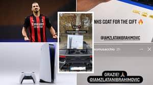 Zlatan Ibrahimovic Gifts AC Milan Teammates A PlayStation 5 On Launch Day