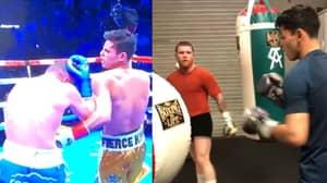 Footage Emerges Of Canelo Teaching Ryan Garcia The Body Shot That KOd Luke Campbell