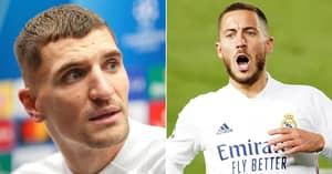 Thomas Meunier Shares Hilarious Story Of Real Madrid President's Reaction To Him Injuring Eden Hazard