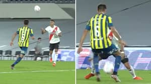 River Plate Forward Matias Suarez Nutmegs Opponent With A Chest Control And It's Pure Filth