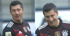 Robert Lewandowski's Incredible Reaction As Bayern Munich Reveal Special Celebration For Record Goal
