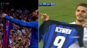 Watch: Mauro Icardi Channeled His Inner Leo Messi With Hat-Trick Celebration Against Milan