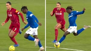 Virgil Van Dijk Hilariously Puts Off Moise Kean By Shouting At Him