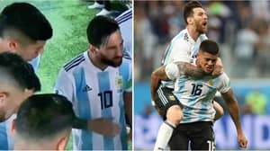 Marcos Rojo Reveals What Lionel Messi Said In Inspirational Half-Time Team Talk
