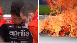 Awful Scenes In MotoGP Sees Rider Stretchered Off After Fireball Crash
