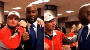 Lennox Lewis Pushes Fan For Putting His Fist In His Face