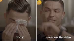 Cristiano Ronaldo Breaks Down In Tears After He's Shown Unseen Footage Of His Dad