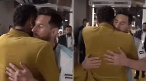 Neymar Consoles Lionel Messi After Argentina's Defeat To Brazil In The Copa America