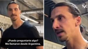 Zlatan Ibrahimovic Reacts Angrily To Reporter Who Asks Him About Daniele De Rossi