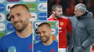 Luke Shaw's Reaction To Dropping A Masterclass In 'Jose Mourinho's Backyard' Is Priceless