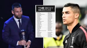 Who The Players Voted For In The FIFA Best Men's Player Of The Year