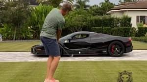 Ian Poulter Chips A Golf Ball Through The Window Of His $1.8million Ferrari