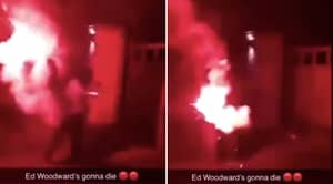 Manchester United Fans Appear To Be Throwing Flares At Ed Woodward's House