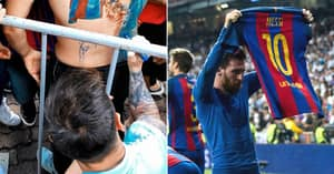 Lionel Messi Fulfils Social Media Promise To Fan By Signing Incredible Barcelona Tattoo