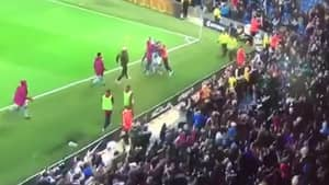 Watch: Benjamin Mendy Forgets Ligament Injury To Wildly Celebrate Sterling Winner