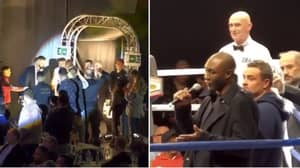 Danny Williams Walks To The Boxing Ring And Informs Fans He Can't Fight