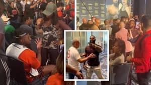 Jake Paul's Team Get Into Heated Altercation With Tyson Woodley's Mother At Press Conference