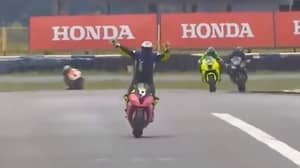 Superbike Racer Celebrates Too Early And Ends Up In Third Place